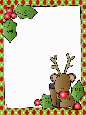 A blank Rudolph letter form for Santa! And it's FREE!!!!!: