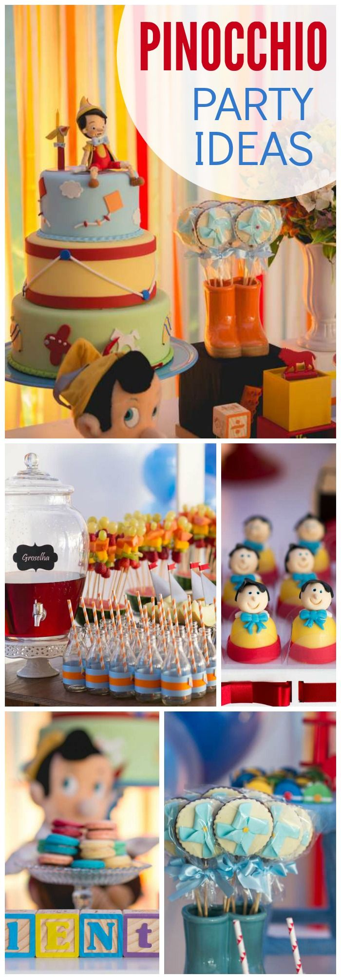 Is this Pinocchio party amazing, or what?! See more party ideas at CatchMyParty.com!