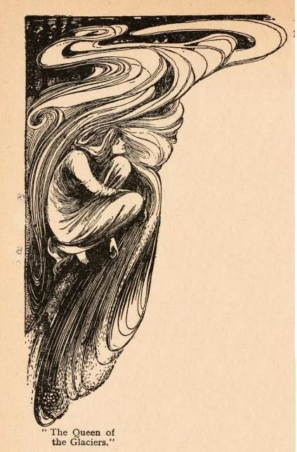 The Queen of the Glaciers, illustration by Helen Stratton for Fairy Tales of Hans Andersen, 1908