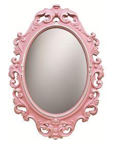 Детские зеркала.  Винтажное зеркало для детских комнат Розовый Перламутр Серебро