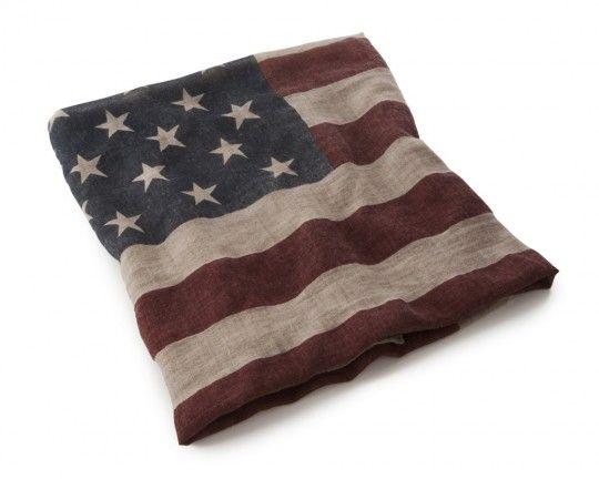 Jeté de canapé drapeau américain vintage Lexington