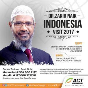 terkini Donasi Untuk Kegiatan DR. Zakir Naik Visit Indonesia di Kota Bekasi