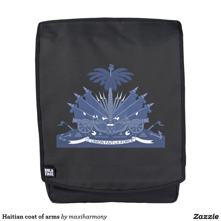 Haitian coat of arms backpack