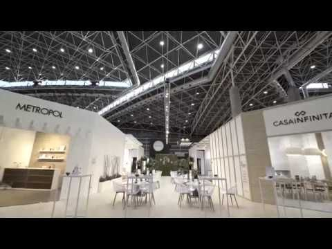 Assembly of the stand of #CEVISAMA18 After almost a month and a half of work here you can see the result: 'Keraben Grupo Resort'. A space full of design and trends. Thanks to everyone who made it possible.