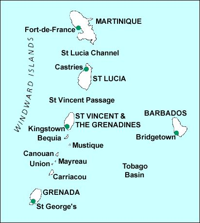 our cruise to Grenadines islands : from Fort de France (Martinique), Ste Lucie, St Vincent, Bequia, Mayreau, Barbados, & Fort de France return - each morning in front of a new island .... and each morning a welcome with a rum punch !!!!!!