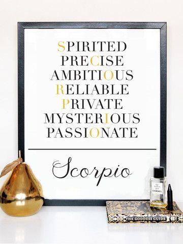 Scorpio Description Print - ZodiacCity Shop