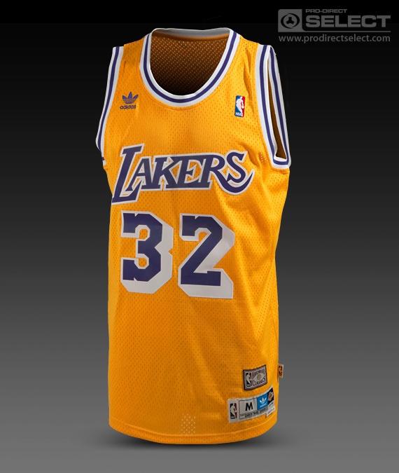 adidas Originals NBA LA Lakers Magic Johnson Jersey - Gold/Purple ...