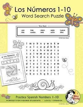 los numeros spanish numbers 1 10 word search puzzle worksheet word search puzzles word. Black Bedroom Furniture Sets. Home Design Ideas