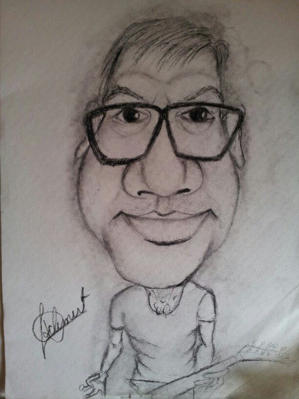 The guitarist caricature
