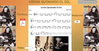 PARTITURAS A TU DISPOSICIÓN: ARRIBA QUEMANDO EL SOL (VIOLETA PARRA)