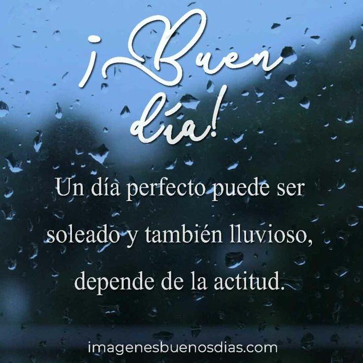 Un día perfecto puede ser soleado y también lluvioso, depende de la actitud. Betty Boop, Neon Signs, Motivational Quotes, Pretty Quotes