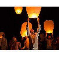 Lanterne volante vendue à l'unité  thailandaise