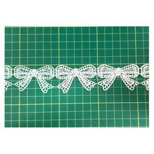 15Yards/Lot,White DIY Trims Hollow Out Bowknot Design Water Soluble Lace Ribbon Wedding Bride Dress Sewing Craft ,Free Shipping(China (Mainland))