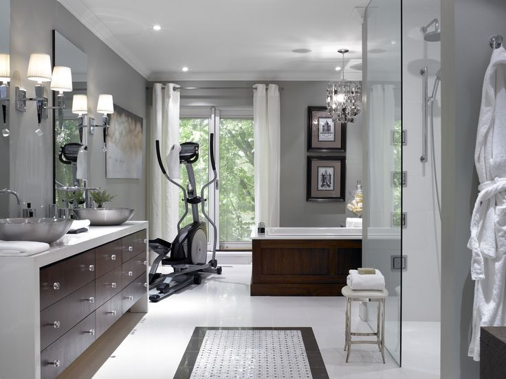Gallery One Like the amount of paint Like the sconces u Home GymsMaster BathroomsDream BathroomsSpa