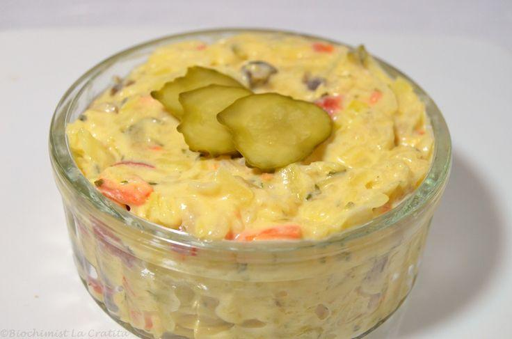 Salata cu legume, ciuperci si maioneza