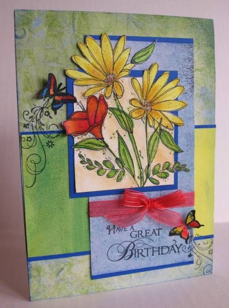 Blooming Birthday Butterflies by mcost - Cards and Paper Crafts at Splitcoaststampers