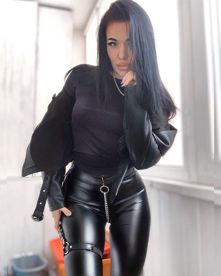Pin von PF auf Girls | Leder outfits, Leder leggings, Enge