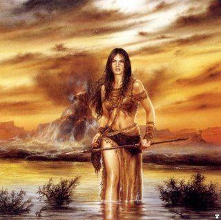 """""""Amazonas; andaban desnudas, con sus partes pudendas cubiertas, arco y flechas en mano!"""