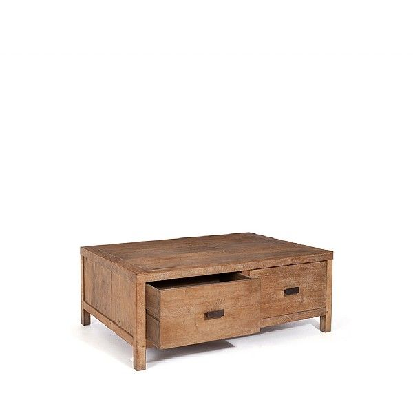 Our Sumatra coffee table is handmade by artisans from rustic reclaimed teak in Indonesia.