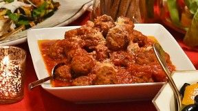 Lidia Bastianich - Lidia's meatballs Italian family dinner traditional authentic hearty comfort filling heirloom feast