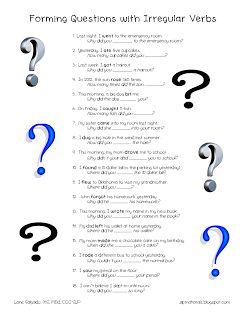 Grammar: Questions with Irregular Verbs