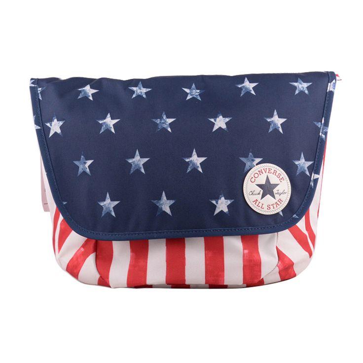 #converse  converse  new autumn wind neutral American flag printing diagonal package 12062C410