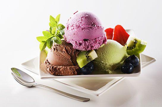 cool Muzlu dondurma topları