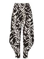 Womens *Izabel London Monochrome Abstract Print Harem Trousers- Multi