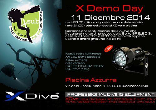 Giovedi 11 Dicembre ore 20.00 serata test lampade XDive,