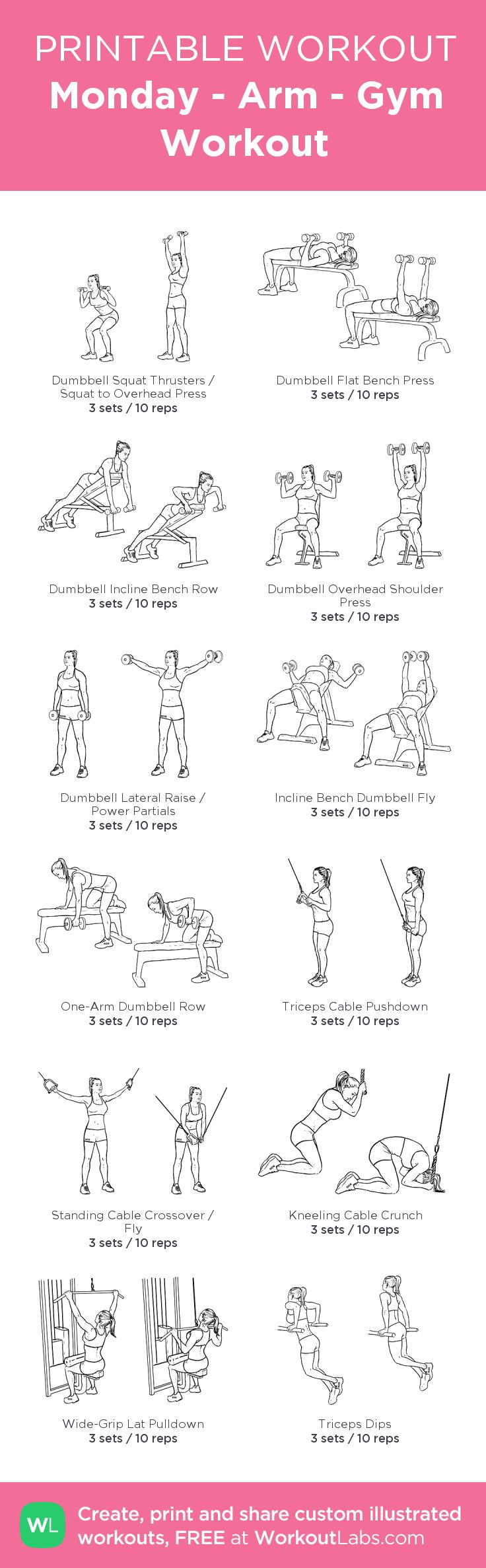 Best 25+ Gym workout plans ideas on Pinterest | Gym workout ...