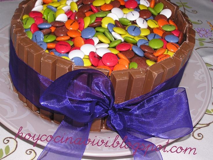 Tarta de Lacasitos y KitKat