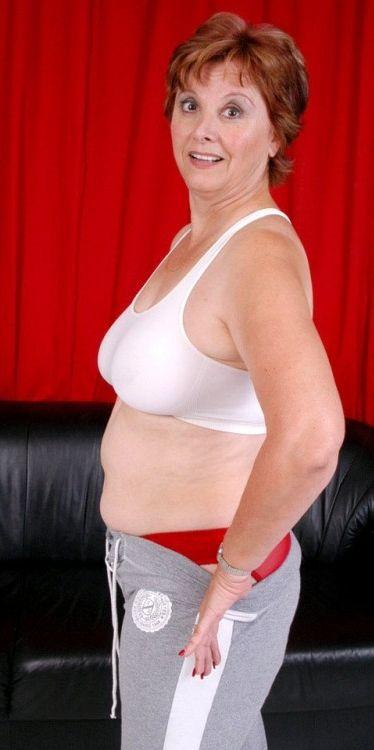 sweat pants naked women