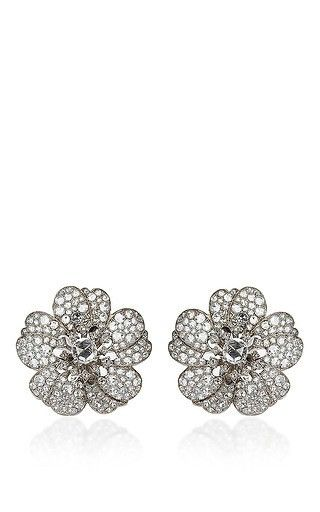 Nam cho large rose earrings by NAM CHO Preorder Now on Moda Operandi