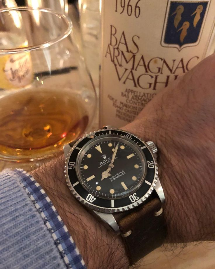 """123 Likes, 2 Comments - Watchwalker (@watchwalker) on Instagram: """"The sub and the armagnac, same age. Maybe even the wrist too 🧔🏻"""""""