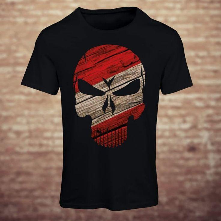 Holen Sie sich jetzt Designer USA Skull T-shirts für Ihre Halloweenparty. Superweiche Baumwolle, Geister- & Horror-Design T-shirts für Herren, Damen, usw.