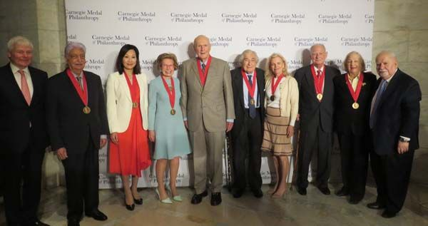 carnegie medal of philanthropy group picture
