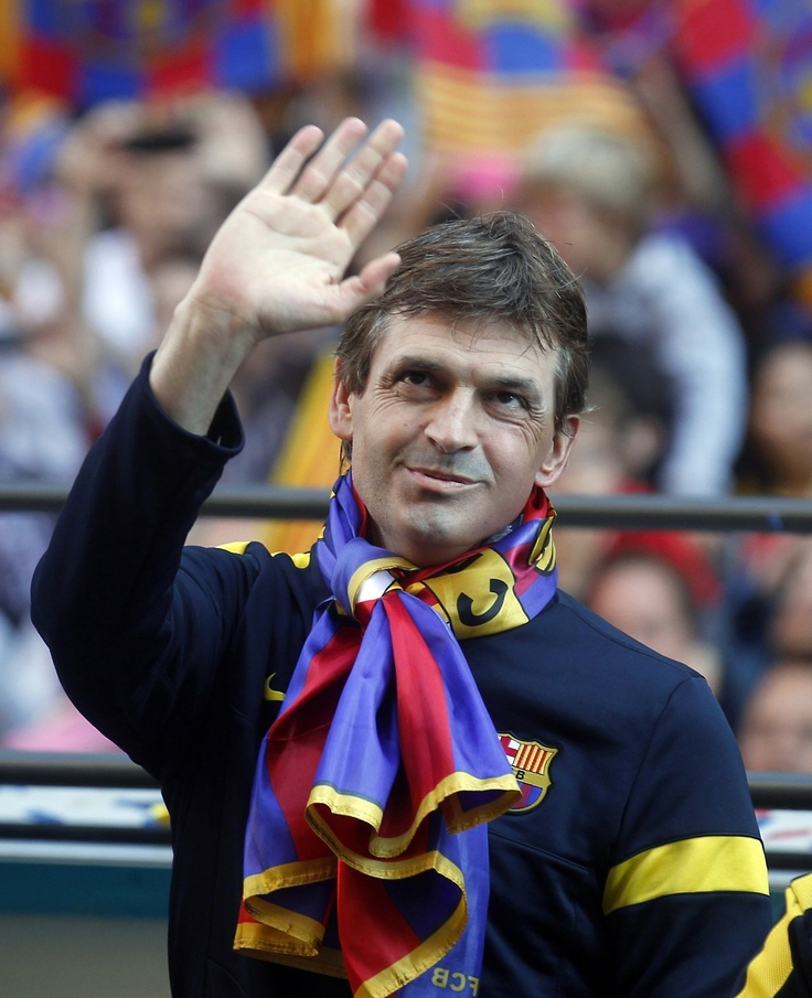 119. Tito Vilanova After a professional career which consisted of 26 La Liga games in three seasons combined, all with Celta, he went on to work with Barcelona as an assistant coach under Pep Guardiola, being part of the squads that won 14 titles. In 2012 Vilanova was appointed first-team manager, winning La Liga in his first season. He stepped down in July 2013.