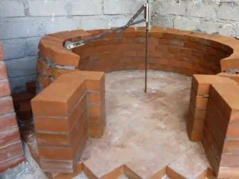 ▶ Costruzione forno a legna - Wood fired pizza oven construction - YouTube