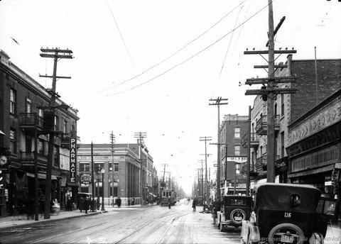 Rue Mont-Royal de Papineau vers l'est . - 1928 - Archives de Montréal