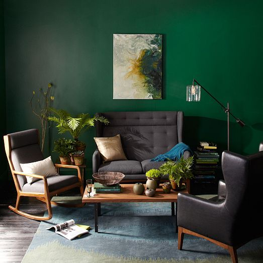 James Harrison Wing Chair - Leather   west elm