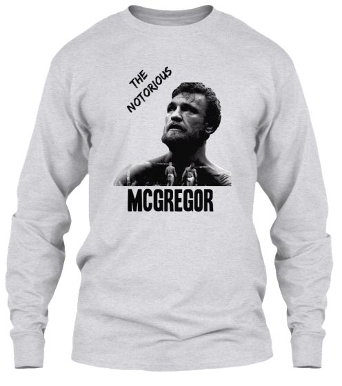 [Long Sleeve - 34.99€] Whether you appreciate his #style or consider him loud and #excessive, there's no denying this about #Conor #McGregor: the #UFC has seen nothing like him.  Available in several types and colors!  Visit our store and choose yours! #notorious #ConorMcGregor #MMA #motivation #knockout #fighter #thenotoriousbig #ireland #notoriousbig #workout  #teammcgregor #kickboxing #training #ufcfightnight #celticfc  #boxing #fighting #dublin #fitness #wmma #fit #teespring…