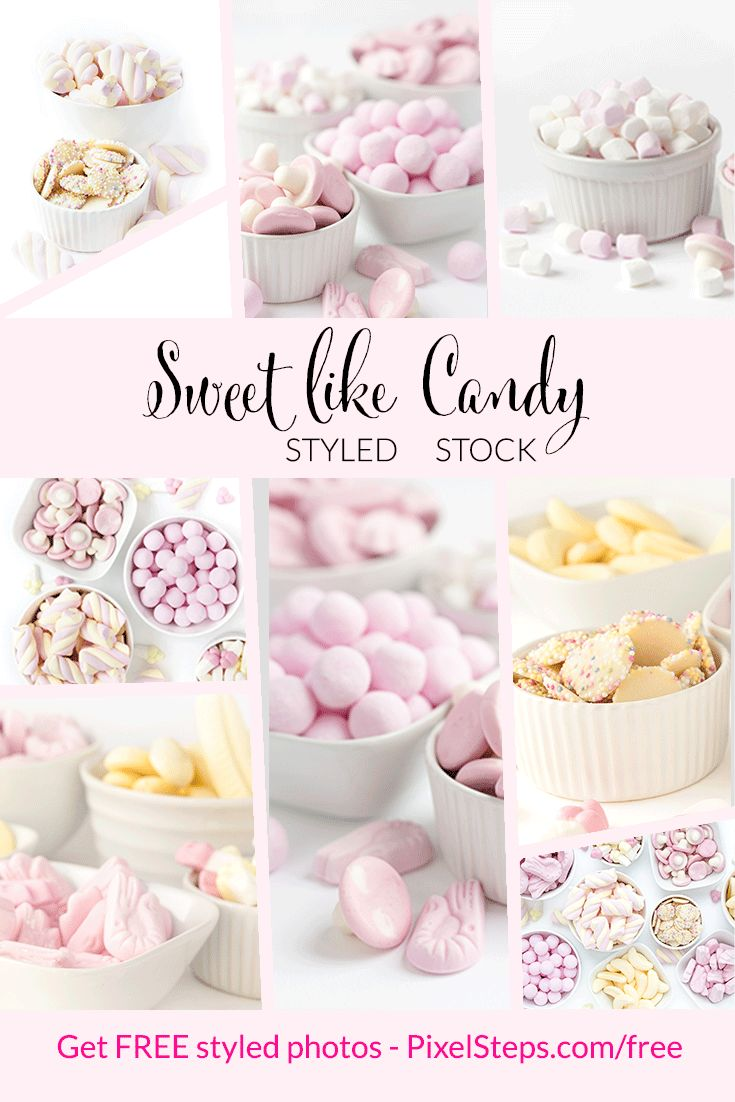 Candy Images are here! Pastel stock photos for commercial use. Pastel pink and yellow styled stock images full of yummy sweets! Get free photos too!
