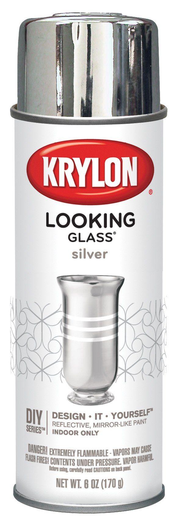 aerosol spray paint krylon looking glass looking glass paint mason jar. Black Bedroom Furniture Sets. Home Design Ideas