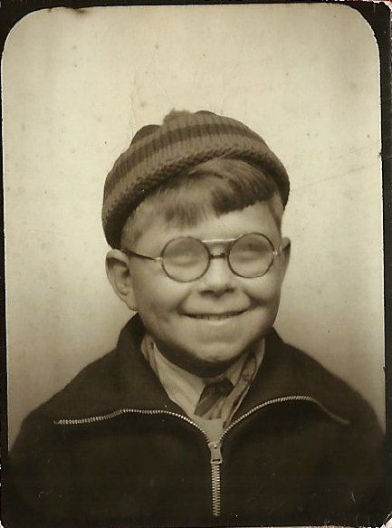 Image result for child in thick glasses 1930s