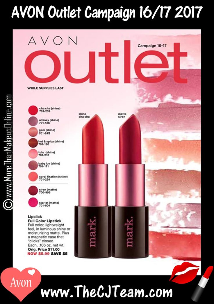 Avon Campaign 16 & 17, 2017 Outlet Sale - Shop early, these are only available WHILE SUPPLIES LAST!  Shop Avon Campaign 16/17, 2017 Outlet online July 6, 2017, through August 2, 2017. #Avon #CJTeam #C16 #Campaign16 #ShopNow #Sale #Outlet #Clearance #WhileSuppliesLast #Campagin17 #Disney Sell Avon Online @ www.CJTeam.us. Shop Avon Online @ www.TheCJTeam.com