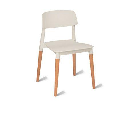 Harrow white dining chair