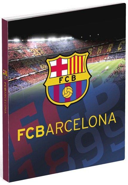 Berg al je papieren goed op in deze ringband van FC Barcelona. Op de map in a4-formaat staat het stadion van Barcelona afgebeeld, inclusief het logo van de Catalaanse club.   Afmeting: volgt later.. - Ringband barcelona A4 stadion 4-rings polypropyleen