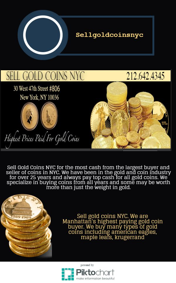 Sell gold coins NYC. We are Manhattan's highest paying gold coin buyer. We buy many types of gold coins including american eagles, maple leafs, krugerrand