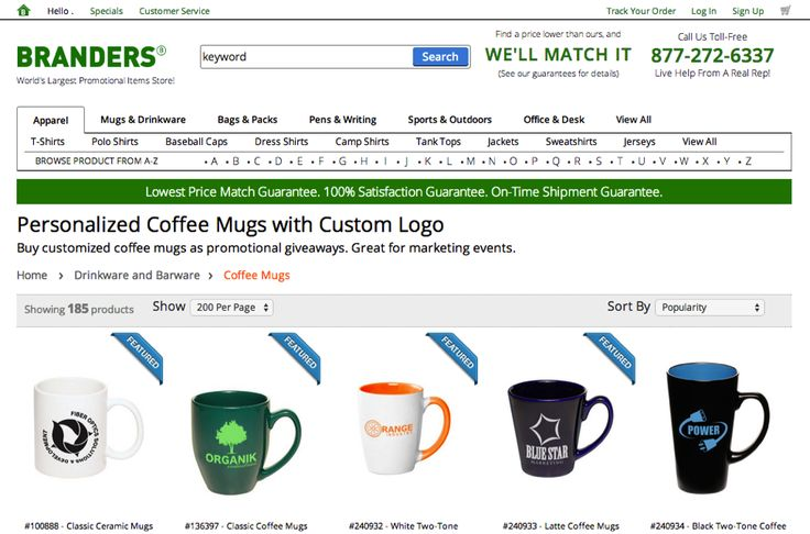 Example of a Landing Page mistake by branders, too many choices. 9