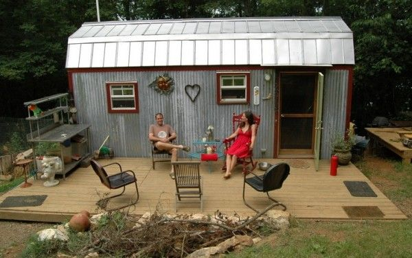 The Tiny House Family saved and paid cash for their 168 square feet tiny home. They are now building a slightly larger tiny home to accommodate their two growing children.